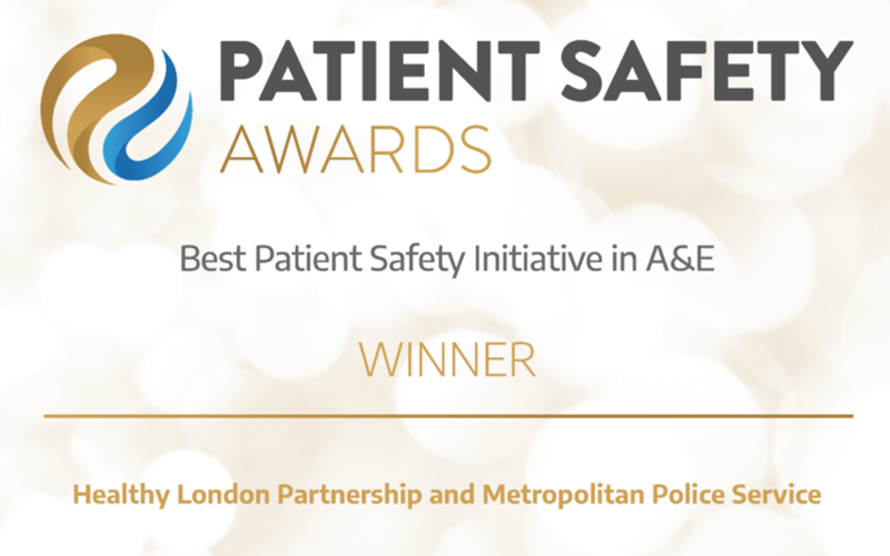 Winner HSJ Award:  Best Patient Safety Initiative in A&E