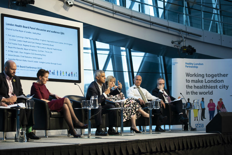 Photo of Sadiq Khan hosting a panel discussion at City Hall