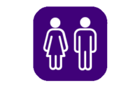 Visability 93 icons for Autism on purple background