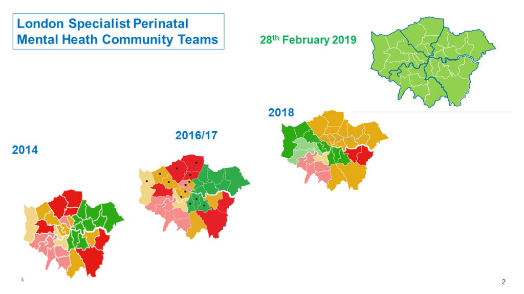 London map of perinatal services